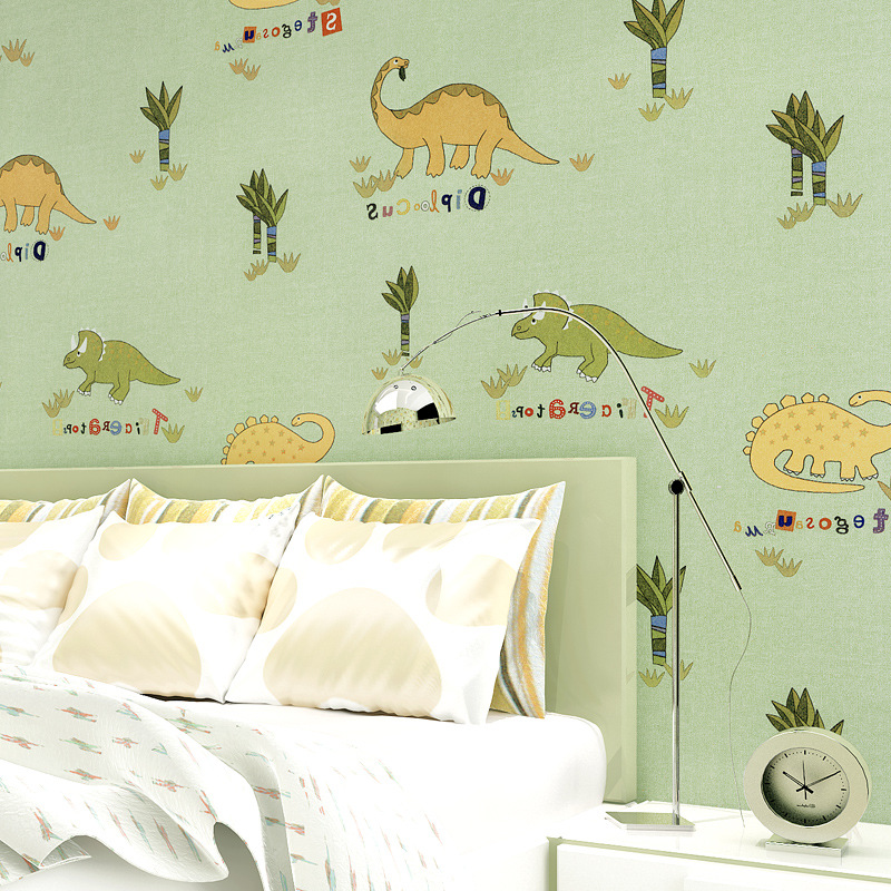beibehang room dinosaur pattern environmental non - woven environmental formaldehyde - free children' s room full of wallpaper beibehang 2017 new environmental