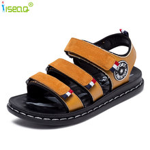 summer childrens sandals for boys kids canvas rain breathable flats shoes 2-13 years