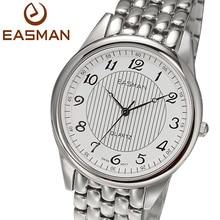 EASMAN Brand Top Switzerland Quartz Wristwatches Watches New Men Brand Round Luxury Watch Stripe Designer White