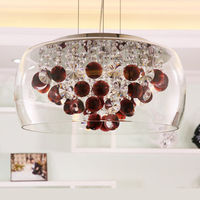 Miditerranean sea style red K9 crystal Pendant Lights new design glass sun flowers hanging lamps dinning room bedroom LED lights