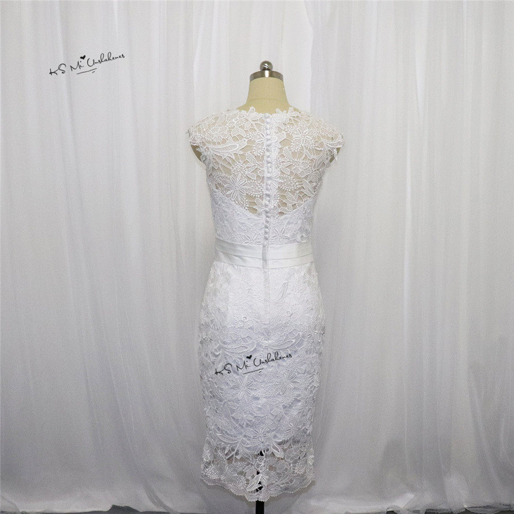 Cheap Short Bride Dresses Vestido De Noiva Curto Mariage Lace