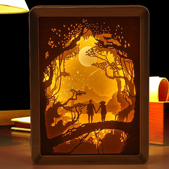 3D Light Shadow Paper Carving Art Light Engraving Night Lamp DIY Handmade 3d Lights Creative Gift Table Lamp For Bedroom bison rolling grill