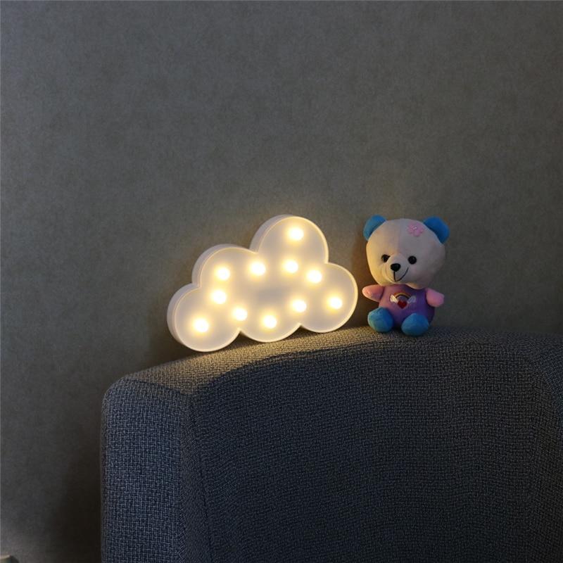 YENI 3D Marquee LED Duvar Lambası Gece Lambası Gökyüzü Bulut - Gece Lambası - Fotoğraf 2