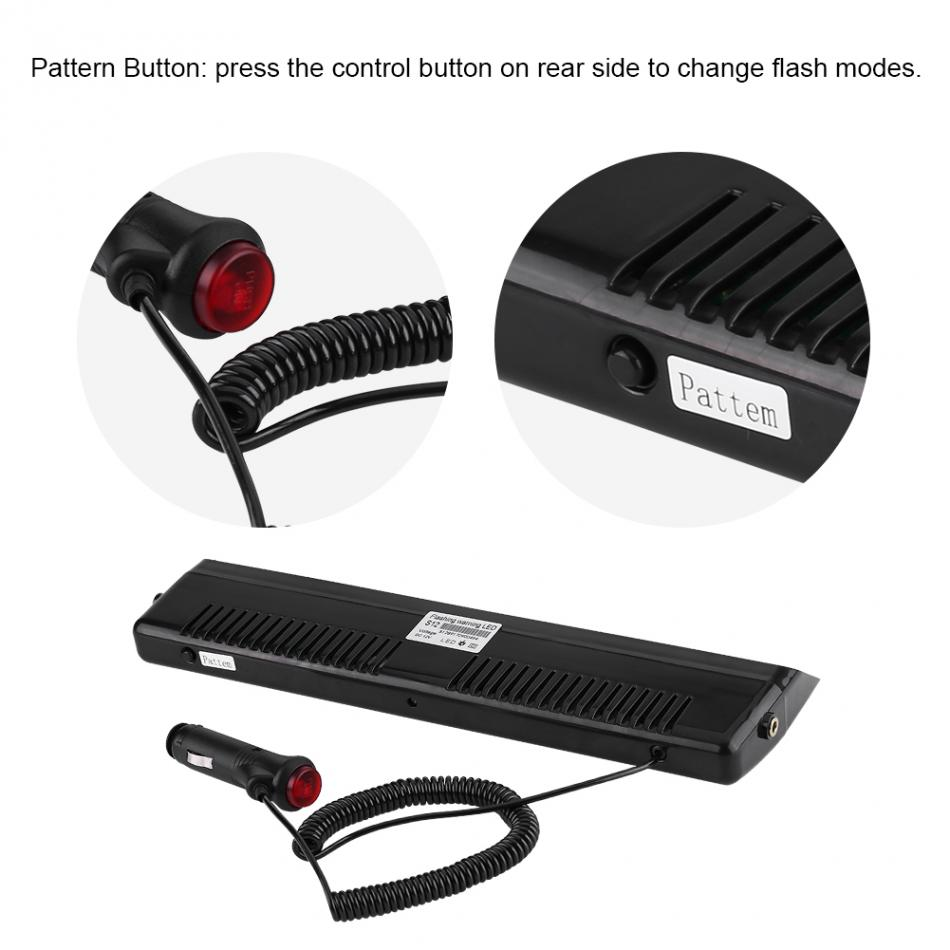 Car Styling 12V 12 LED Car Truck Emergency Warning Strobe Flashing Light Lamp Red & Blue