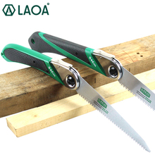 LAOA 170mm/210mm Folding Saw SK5 Garden Pruning Hand Saw Portable Outdoor Shear Tools Sharp Saw laoa free shipping sk5 alloy steel portable folding saw with plastic case for pruning and gardening