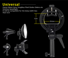 S Type Speedlite Flash Bracket Bowens Mount Holder stand for Softbox Dish Honeycomb Conical Snoot