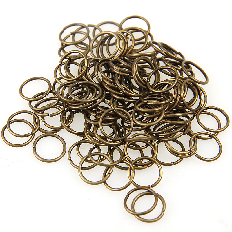 Antique Bronze Mixed Color 3/4/5/6/7/8/10/12/20mm Tone Metal Open Jump Rings Necklace Close Tool Ring DIY Jewelry Making