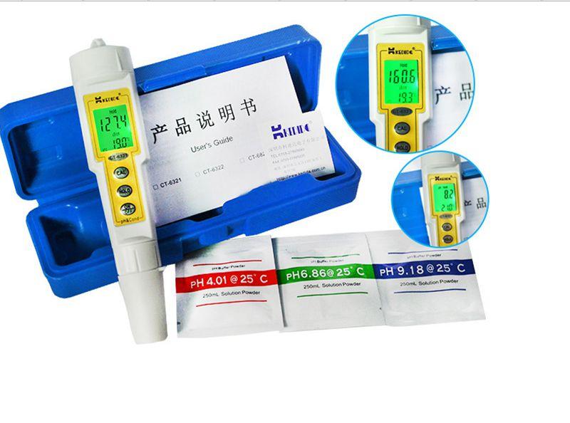 2 In1 Pen Type pH&Cond Meter Digital PH Meter Water Quality PH Pool Conductivity Tester Measuring Range 0.0-14.0pH 0-199.9uS/cm portable ph meter water quality meter digital ph tester with measuring range 0 14