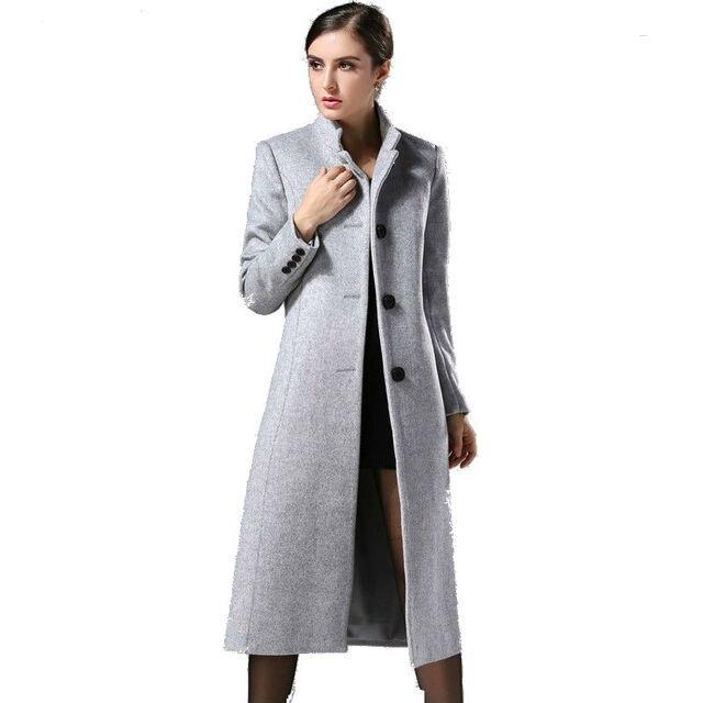 adbea2d97 2018 Autumn Winter New Fashion Europe Classical Female Overcoat ...