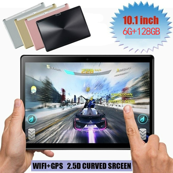 2019 Fashion Hot New 10 Inch  6G + 128G 10 Core Large Memory Dual Card Dual Standby Can Connect WIFI And GPS  Android Tablet