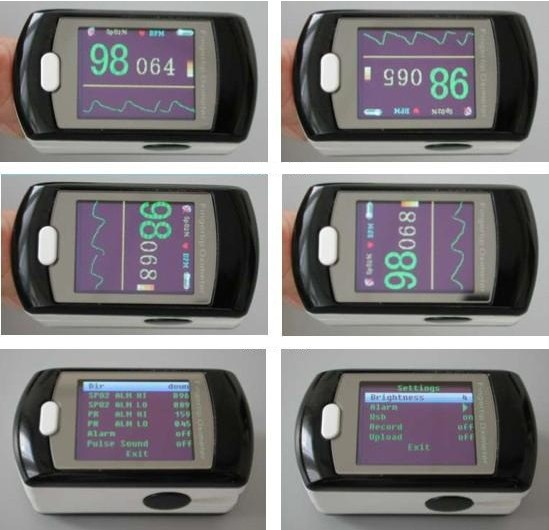 CMS50ED OLED Fingertip Pulse Oximeter SPO2 PR Monitor  Power Adapter color oled wrist fingertip pulse oximeter with software spo2 monitor
