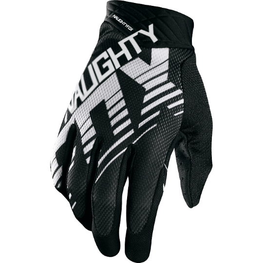 цена на MX MTB Motocross Full Finger Gloves NAUGHTY FOX Airline Draft Gloves ATV DH Mountain Dirt Bicycling Cycling Glove black/white