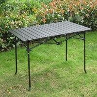 Высокое качество открытый складной стол Кемпинг переносной стол для пикника сталь трубы алюминий сплав материал прочный 95*55 * см 65 см