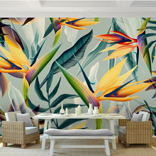 3D Colorful Tropical Plants Printed Photo Wallpapers