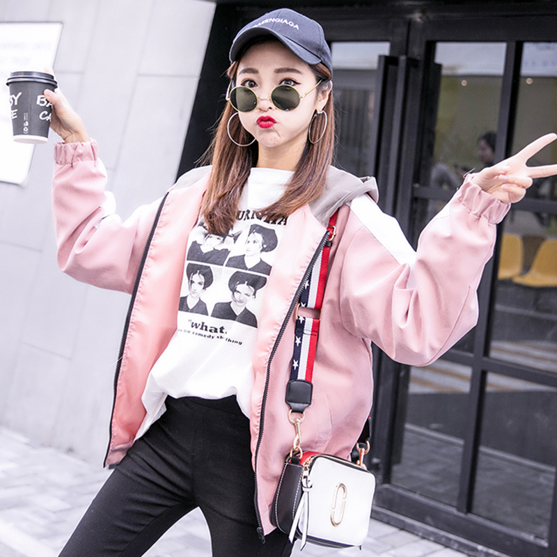 2019 Autumn Jacket Womens Streetwear Patchwork Hooded Totoro Jackets Kawaii Basic Coats harajuku Outerwear chaqueta mujer 44