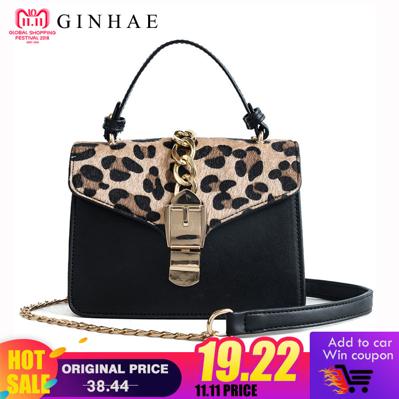 Leopard Women Tote Bag Female High Quality Pu Leather Shoulder Bags Small Chains Crossbody Bags For Women Bolsa De Moda Feminina