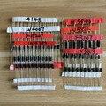 1N4148 1N4007 1N5819 1N5399 1N5408 1N5822 FR107 FR207 8 valores = 100 piezas electrónicos componentes paquete diodo de Kit surtido