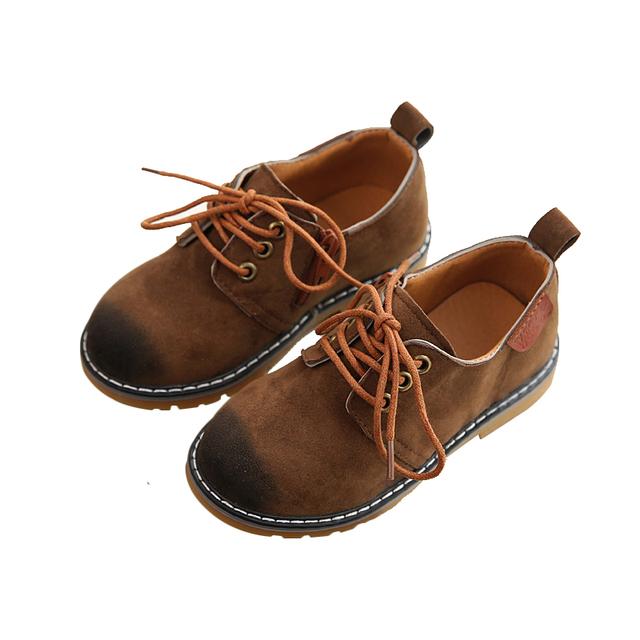 Inverno quente de Outono Criança Sapatos de Desporto Sapatilhas PU Sapatos de Lona Crianças Botas Sapatilhas Do Bebê Das Meninas Dos Meninos da Sapatilha De Couro Botas Martin