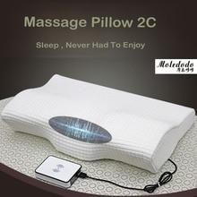 1pc Electric massage pillow Space Memory Cotton Cervical Healthcare Butterfly Pillow Massage cervical pillow 17E25D5