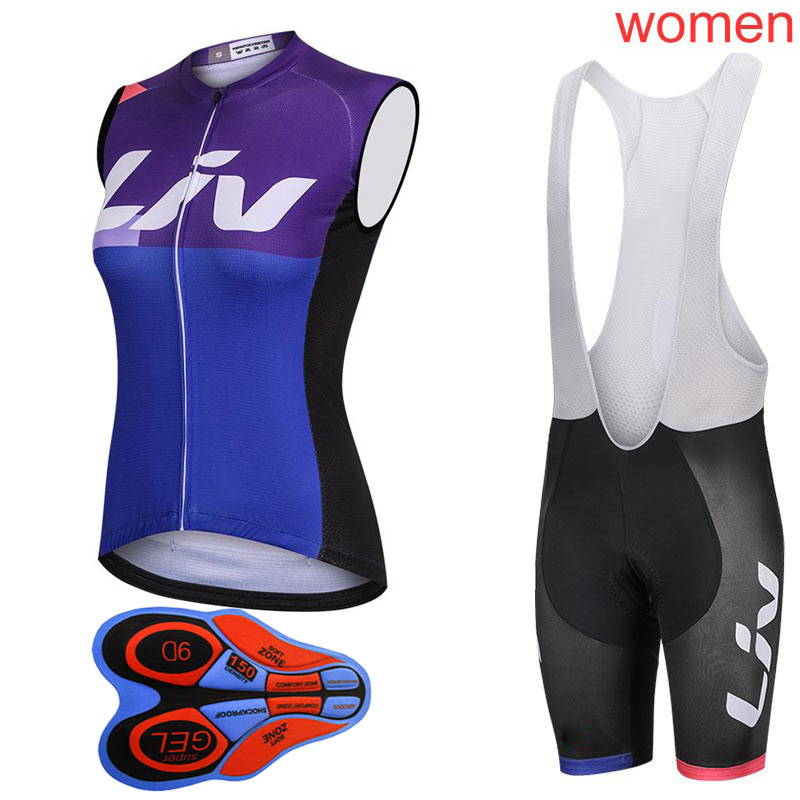 New Women Pro Cycling Sleeveless Jersey Summer Set Breathable MTB Bike Clothing Bicycle Clothes Kits Outdoor Sports Suit Y022111