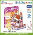 new clever&happy land  3d Puzzle Model The Castle Of Leer  adult puzzle diy paper model games for children paper