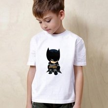 Superman The Dark Knight Batman War Cute Cartoon Modal Kidswear, Boy/girl Summer T-shirt Short Sleeve White Kid Clothes