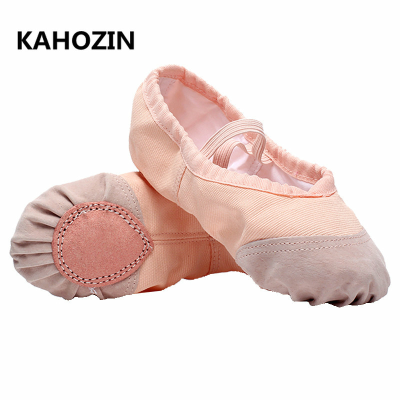 Pink leather split sole ballet shoes assorted brands
