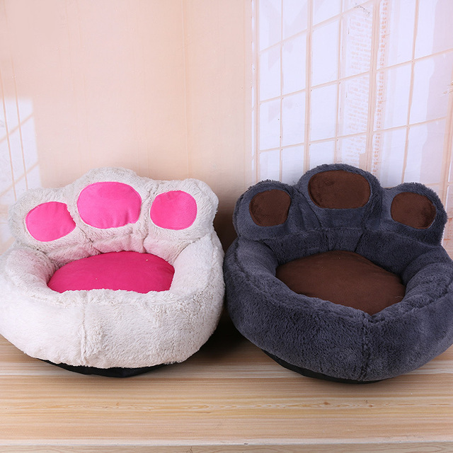 4colors New Pet Bed Luxury Bear Claw Shape Dog Sofa Sleeping Bed Cats  Kennel Goods For