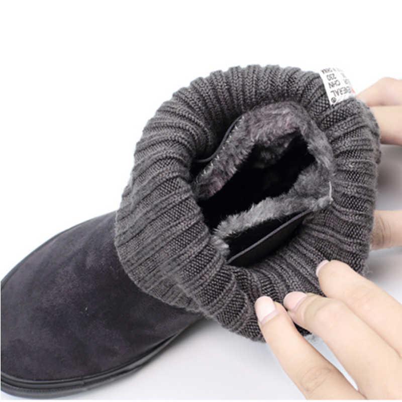 Kadın kış ayakkabı kadın yarım çizmeler yeni 3 renk moda rahat moda düz sıcak kadın kar botları ücretsiz kargo