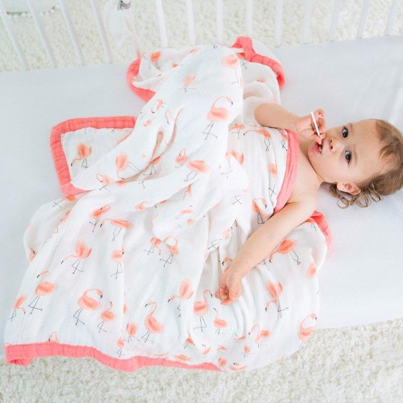Mousseline bébé couvertures literie 70% bambou 30% coton gaze 4 couches couvertures pour nouveau-né fournitures bébé Swaddle enfant rêve couverture