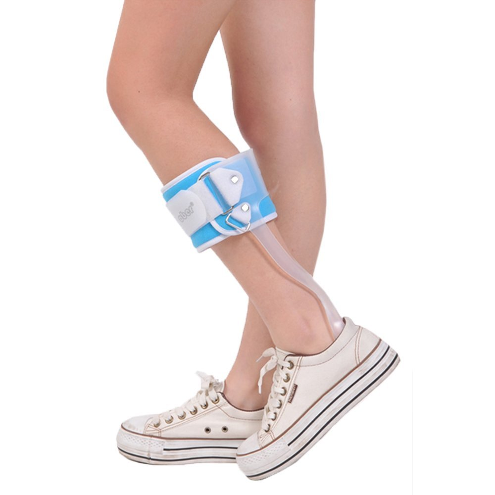 Ankle Foot Drop AFO Brace Orthosis Splint Leaf Spring Recovery Equipment Injection Molded Left Right new 2pcs female right left vivid foot mannequin jewerly display model art sketch