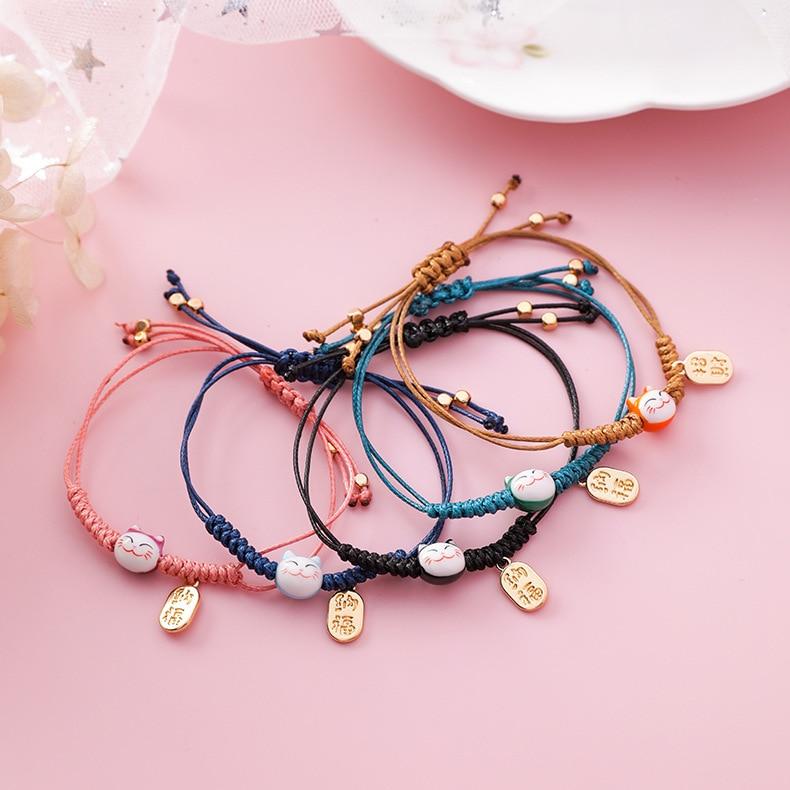 handmade lucky cat fashion bracelet gift chain 7