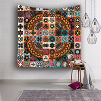 rectangle blanket Geometric Irregular Hippie Mandala Pattern Tapestry abstract painting Art Wall Hanging Livingroom Decor
