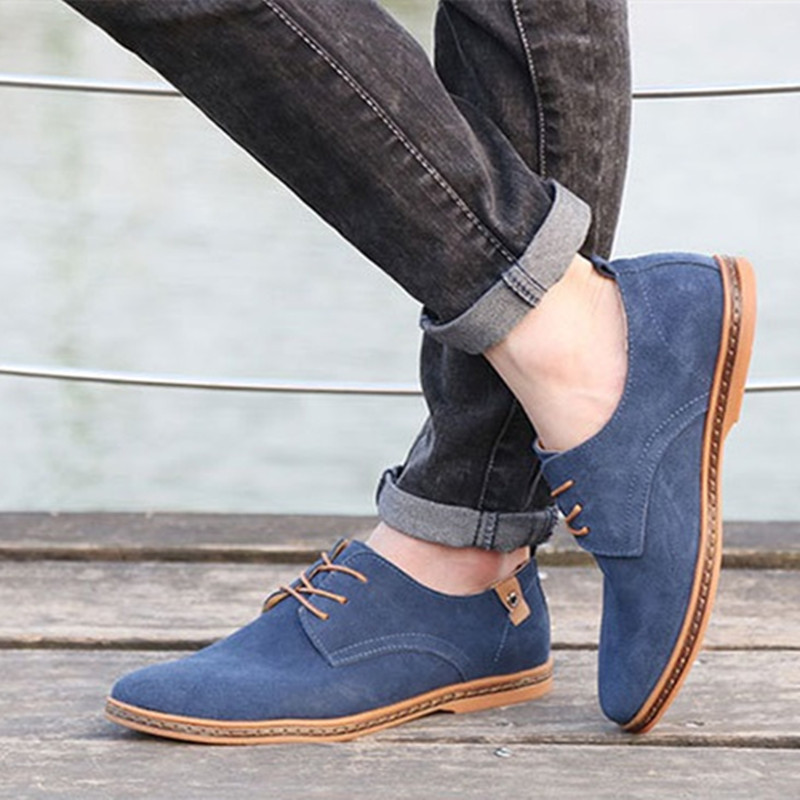 2017 Fashion Men Casual Shoes New Spring Men Solid Flats Lace Up Male Oxfords Men Shoes Zapatillas Hombre Footwear EET01  synthetic leather men shoes spring male casual shoes new 2017 fashion leather shoes loafers men s shoes flats zapatillas