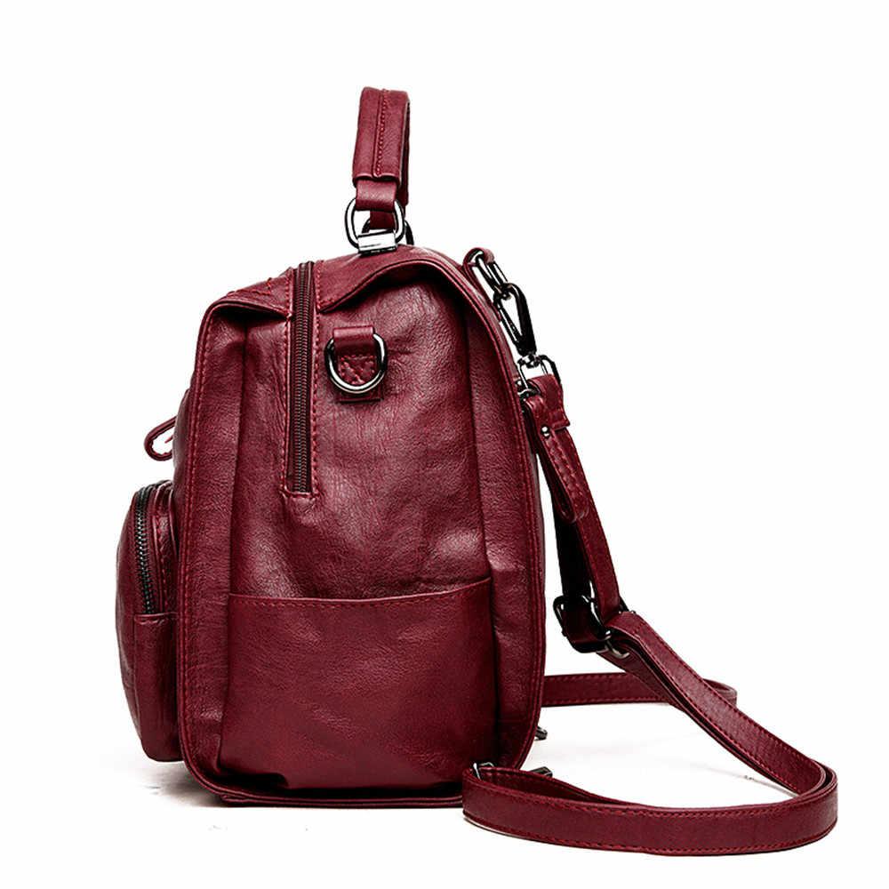 Multifunctio женские кожаные рюкзаки Женская дорожная сумка на плечо рюкзак высокое качество женская сумка школьная сумка рюкзак девушка Mochila