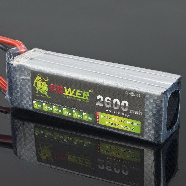 1pcs Lion Power Lipo battery 14.8V 2600Mah 30C 4S Max 45C fast charing RC Lipo battery ...