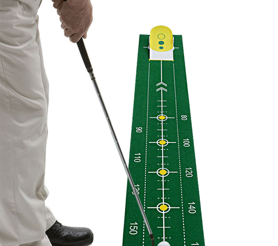 Golf putting trainer golf putting green Indoor sports golf putter practice Golf training aids golf putting mat mini golf putting trainer with automatic ball return indoor artificial grass carpet