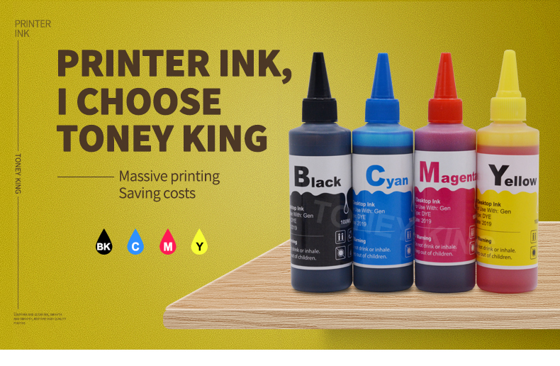 Toney Rei 100ml de Tinta De Impressora