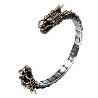 Dragon Bangle Bracelet Stainless Steel Women Punk Jewelry Gold Silver Color Birthday Party Gift For Her