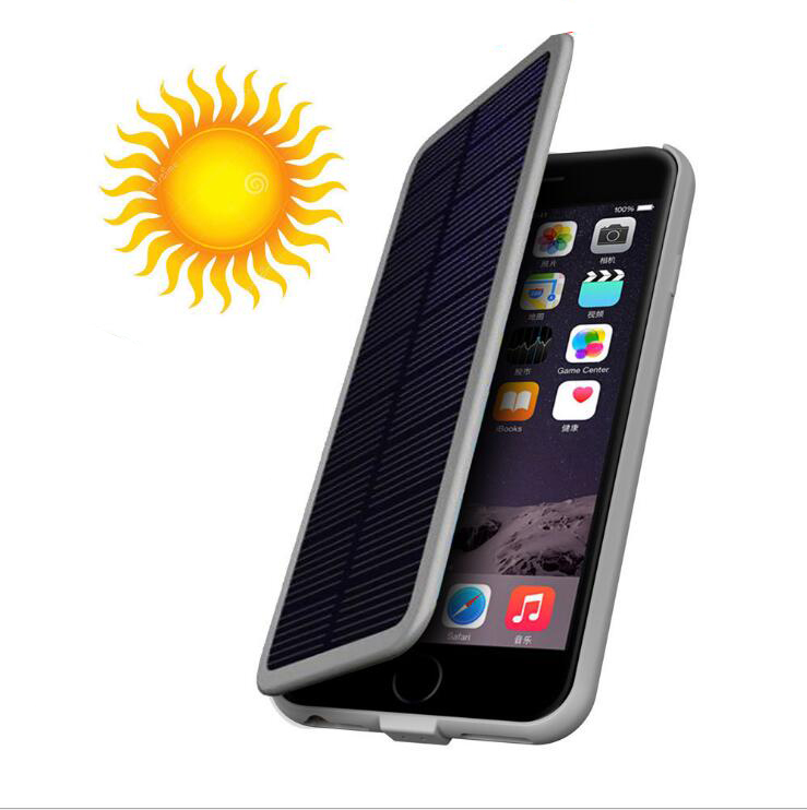 imágenes para Caja de batería de energía solar para iphone 6 6s plus iphone 7 plus caso del cargador de batería de energía solar power bank para iphone 6 6s 7 caso