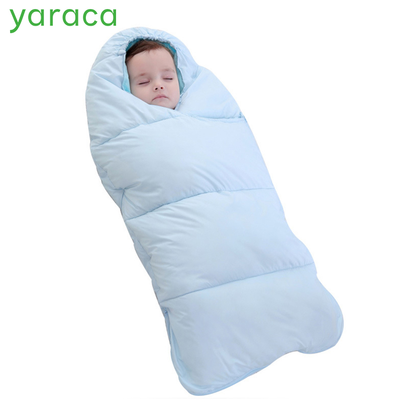Baby Sleeping Bag Thick Warm Cotton Baby Swaddle For Newborns Solid Color Baby Sleep Sack For Winter Baby Stroller Sleeping Bag baby quilts sleeping bag for stroller blanket winter infant sleeping sack newborn sleepsacks warm muslin cotton baby sleep nest