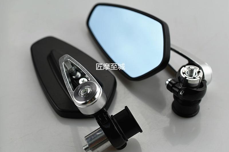 Bar End Spiegels : Hohe qualität schwarz rund aluminium motorrad zusammenklappbar bar