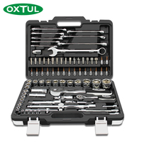 OXTUL 82PCS Professional Mechanical Auto Car Repair Tools Set Socket Wrenches Ratchet Screwdriver Household CR V Steel Hand Tool