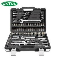 Oxtul 82 pçs profissional mecânico conjunto de ferramentas de reparo do carro chave soquete catraca chave de fenda casa CR-V aço mão ferramenta
