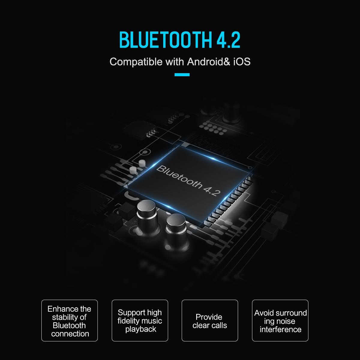 ROCK B300 Bluetooth Car FM Transmitter USB Car Charger Digital Aluminium  Alloy Fast quick Charging Monitoring For Phones