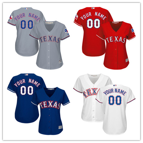 MLB Custom Womens Texas Rangers Mothers Day Cool Base Embroidery Sewing Any Name Any Num ...