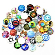 Купить с кэшбэком Random Mix Styles 100pcs 12mm Handmade Round Photo Glass Cabochon ( please note you may get some styles not in the pictures )