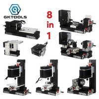 TZ8000M 8 in 1 DIY BigPower Mini Metal lathe KIT, 60W 12000r/min Motor, Standardized children education,BEST Gift