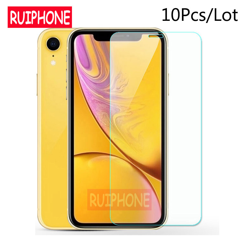 10Pcs Tempered Glass For IPhone XS Max XR X 5c 5s 5se 4 4s Tough Protection Screen Protector Guard Film For IPhone X 6s 7 8 Plus