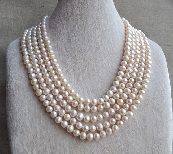 Perfect Long Pearl Jewellery White Real Pearl Necklace,100 inches 6.5-8mm Freshwater Pearl Necklace,Bridesmaid Gift For LadysPerfect Long Pearl Jewellery White Real Pearl Necklace,100 inches 6.5-8mm Freshwater Pearl Necklace,Bridesmaid Gift For Ladys
